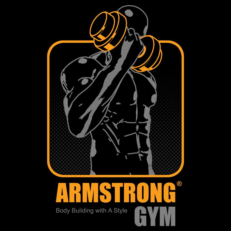 Bodybuilder Logo Template. Vector object and Icons for Sport Label ...