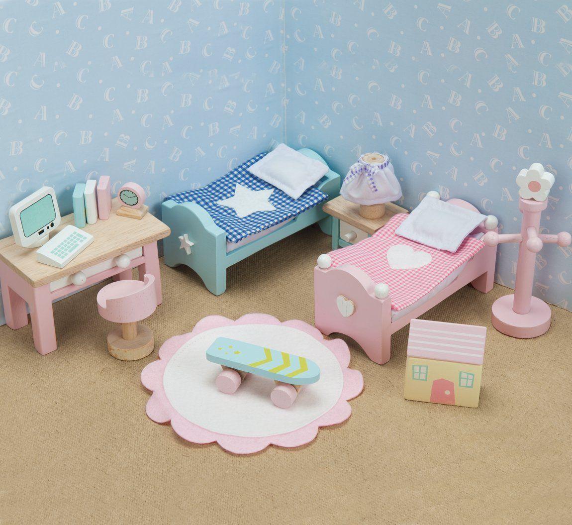 Casa De Mu Ecas Madera Le Toy Van Cherry Con Muebles 6 Set  # Foxy Muebles Y Objetos