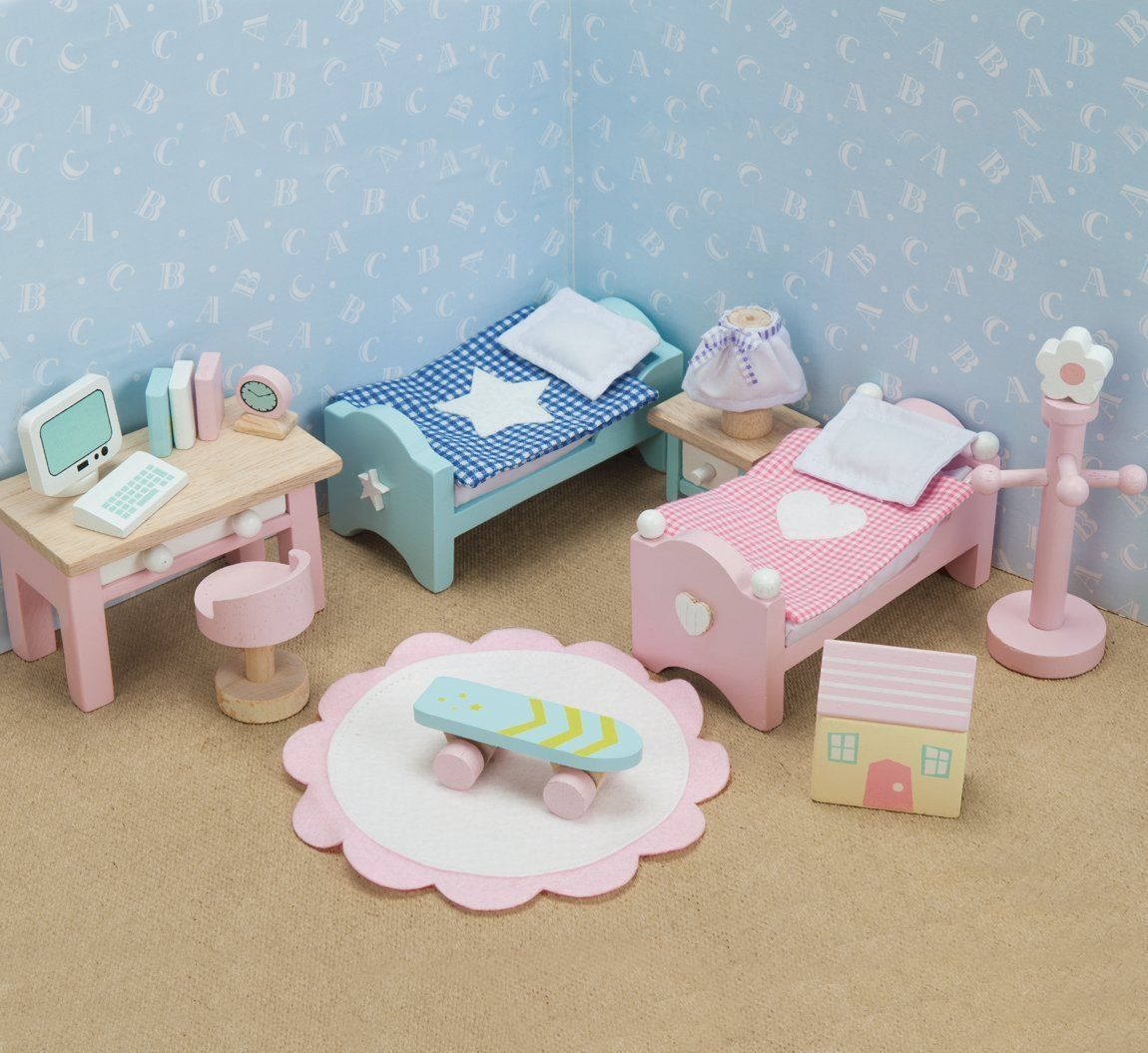 Casa de Muñecas Madera Le Toy Van Cherry con Muebles 6 Set Daisylane ...