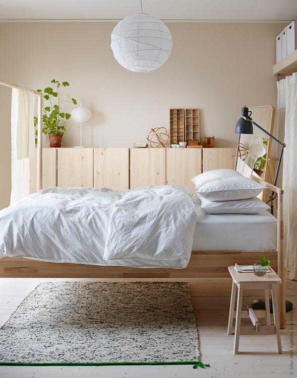Ikea Gjora Bed Scandinavian Bedroom Natural Wood And White Ikea Small Bedroom Bedroom Interior Small Bedroom