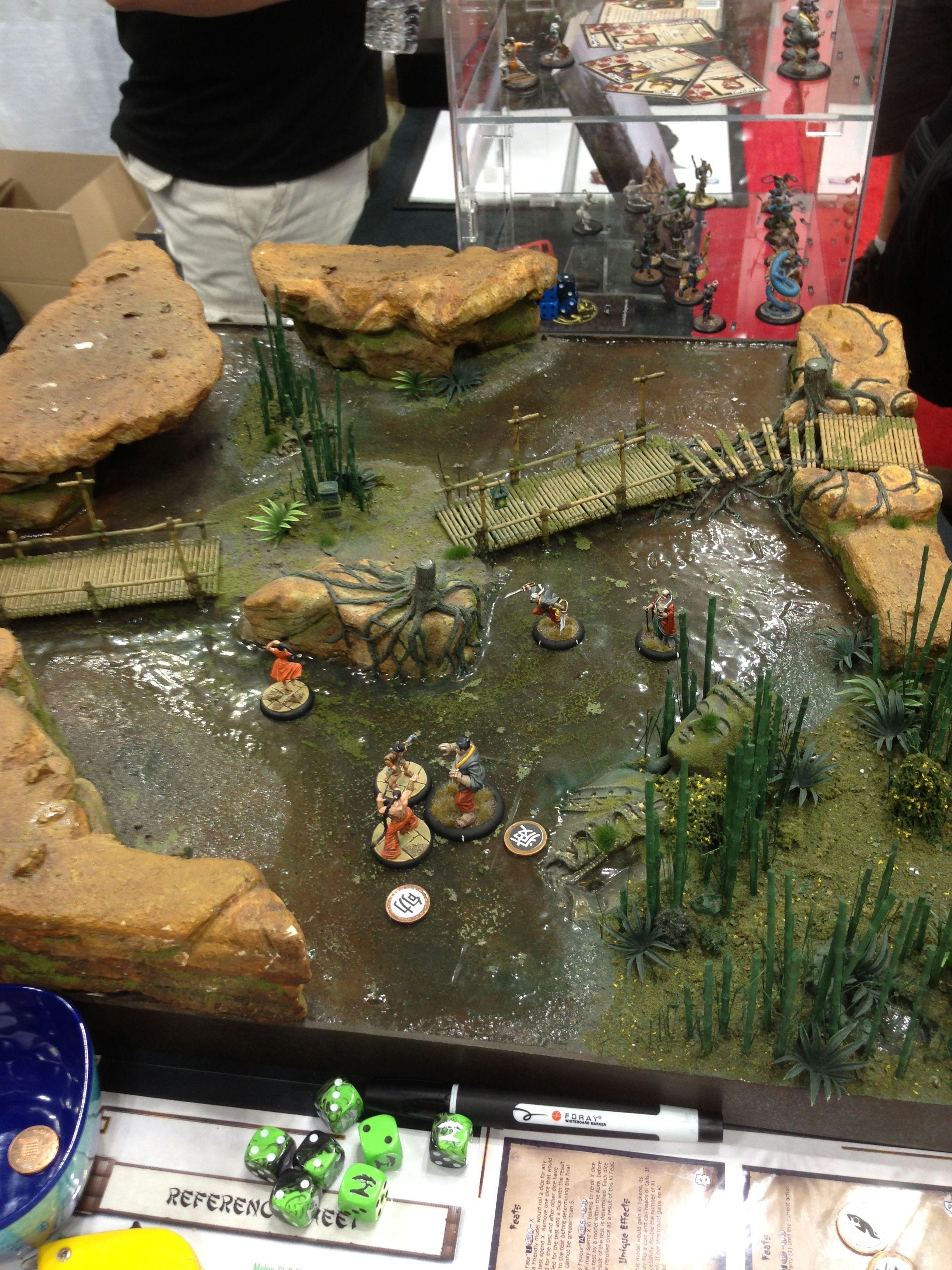 Bushido miniatures skirmish game at GenCon 2013 - love the watery