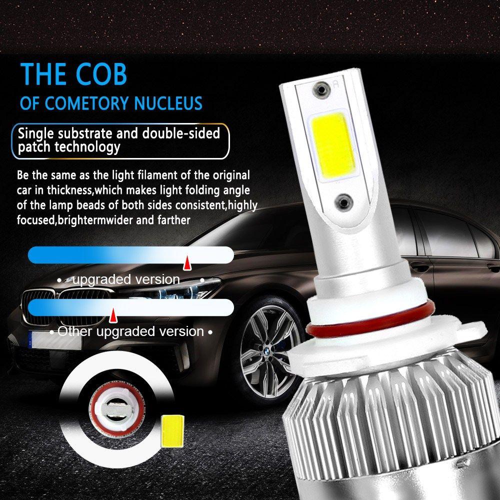 Leites 2pcs High Power Led 72w 7600lm 6000k Super White Bulbs C6 H1 H3 H7 9005 9006 H11 H4 Led Headlight For Led Headlights Cars Led Headlights Car Headlights