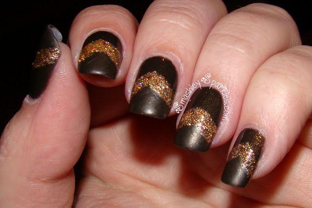 Glitter Chevrons with Dior Czarina Gold