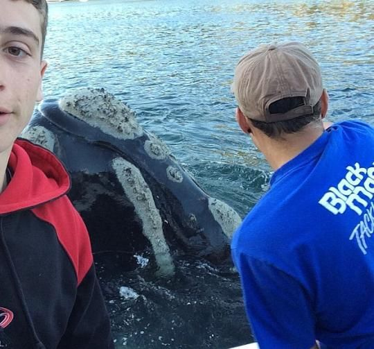 These fishermen did a good deed and took a great selfie.