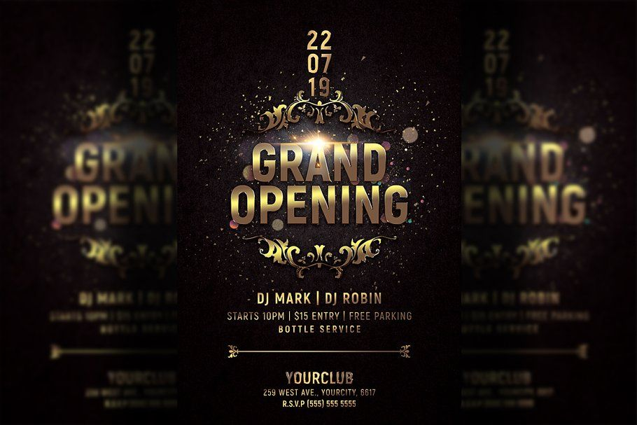 Grand Opening Party Flyer Grand Opening Party Party Flyer Grand Opening