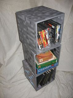 Mineshelves Inspirin Ideas For My Lil Man Minecraft Room