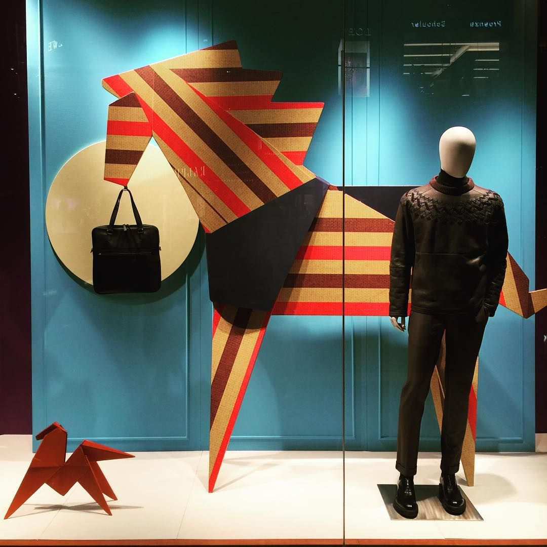 """HERMES,Marina Bay Sands, Singapore, """"Don't flatter yourself cowboy I was looking at your horse"""", photo by The Windowshopper, pinned by Ton van der Veer"""