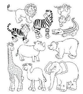 Dibujos para colorear: Dibujo de animales salvajes para colorear