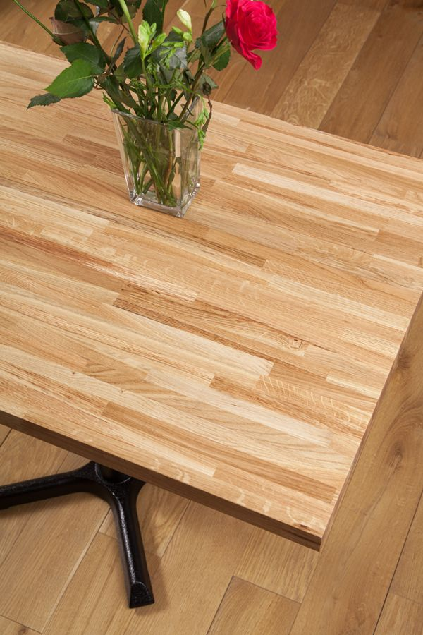 Finest Quality Solid Oak Restaurant Table Tops Rectangular 20mm