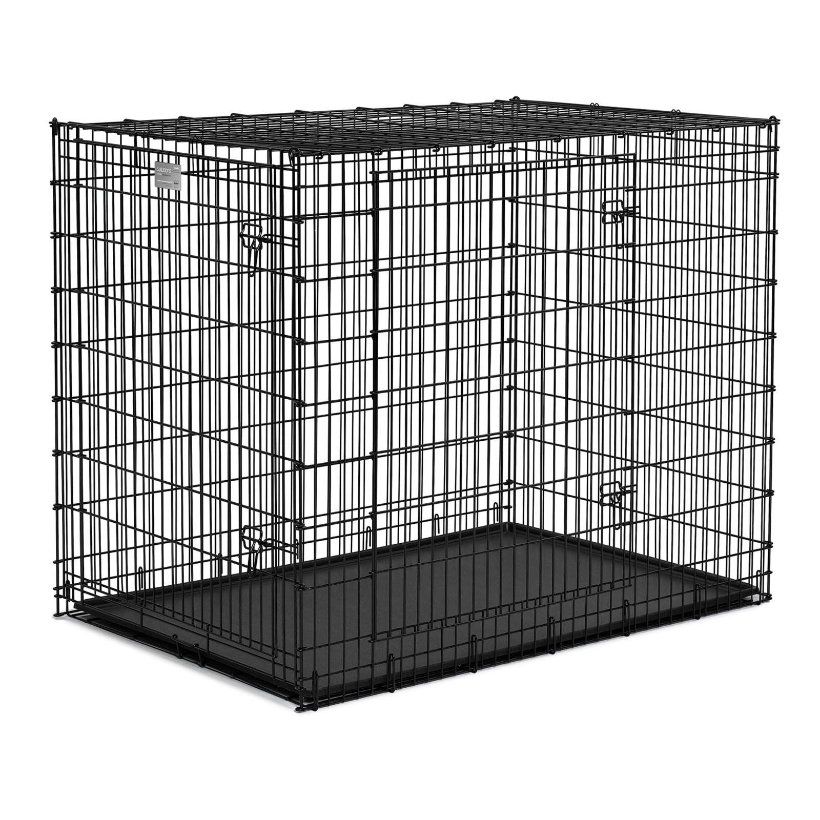 Midwest Homes For Pets Solutions Series Ginormus Double Door Metal