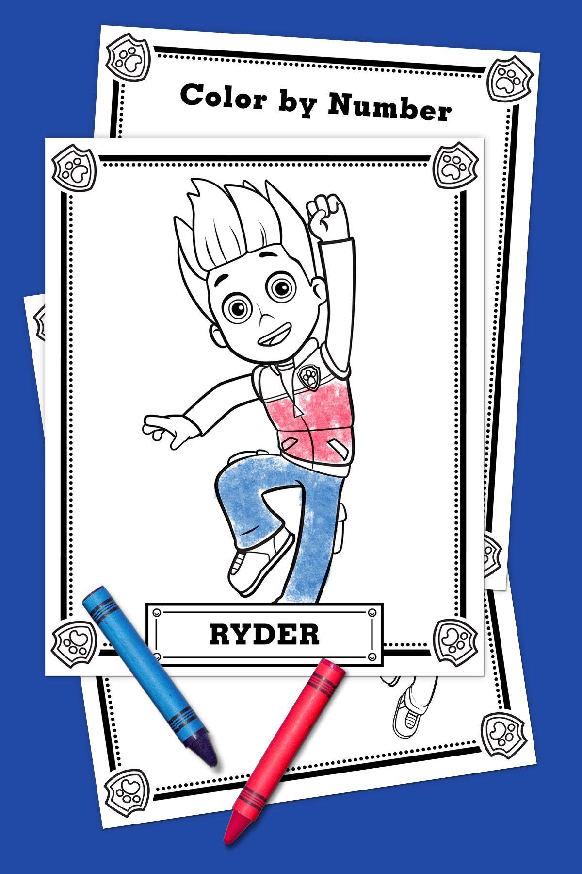Paw Patrol Ryder Coloring Pack Cartoons Paw Patrol