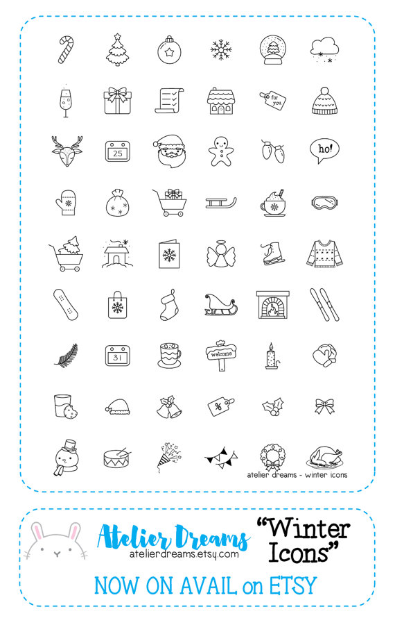 planner supplies clear planner stamps planner icon stamp Planner stamps planner Icons bullet journal stamps