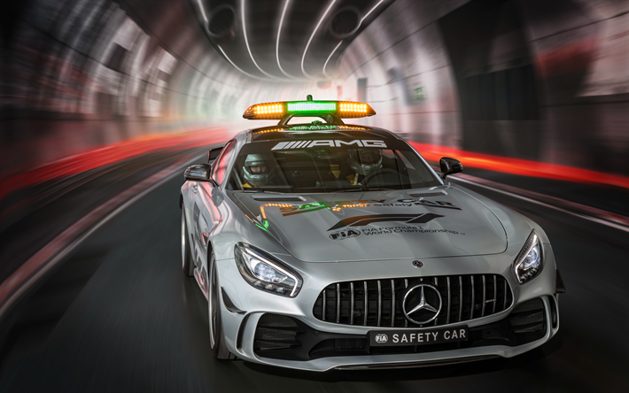 Download wallpapers MercedesAMG GT R F1 Safety Car, 4k