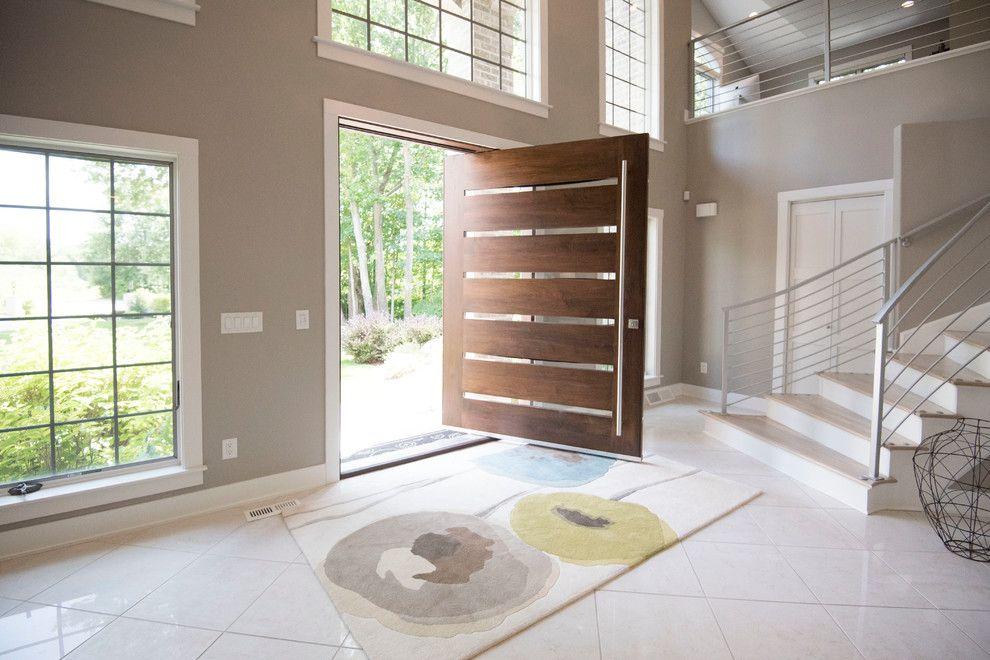 Ee.uu. Villa Puerta De Entrada Principal Diseño Moderno Pivote ...