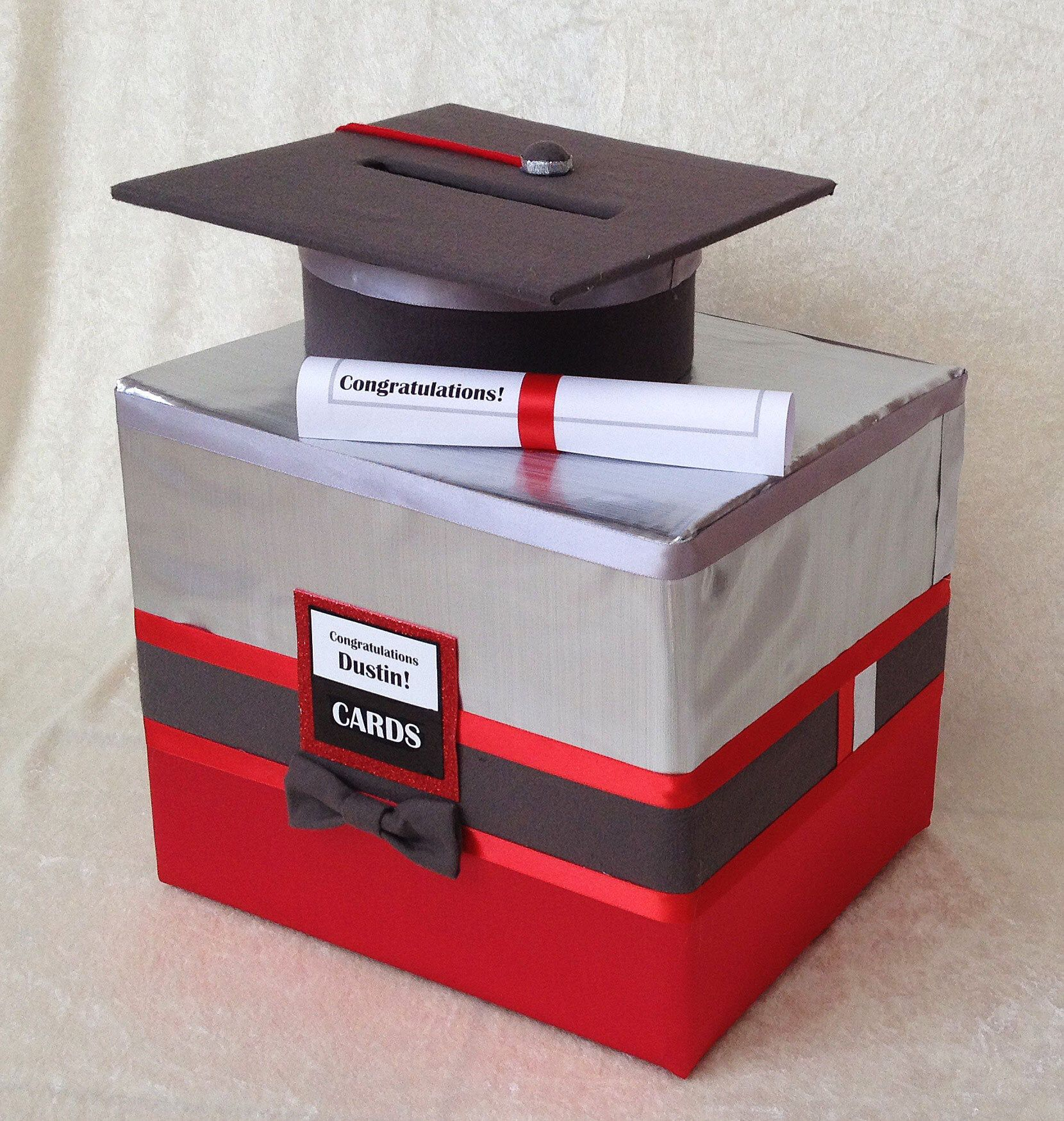 Graduation Party Decorationsgraduation Decorationgraduation Etsy In 2021 Graduation Card Boxes Graduation Party Card Box Graduation Party Decor