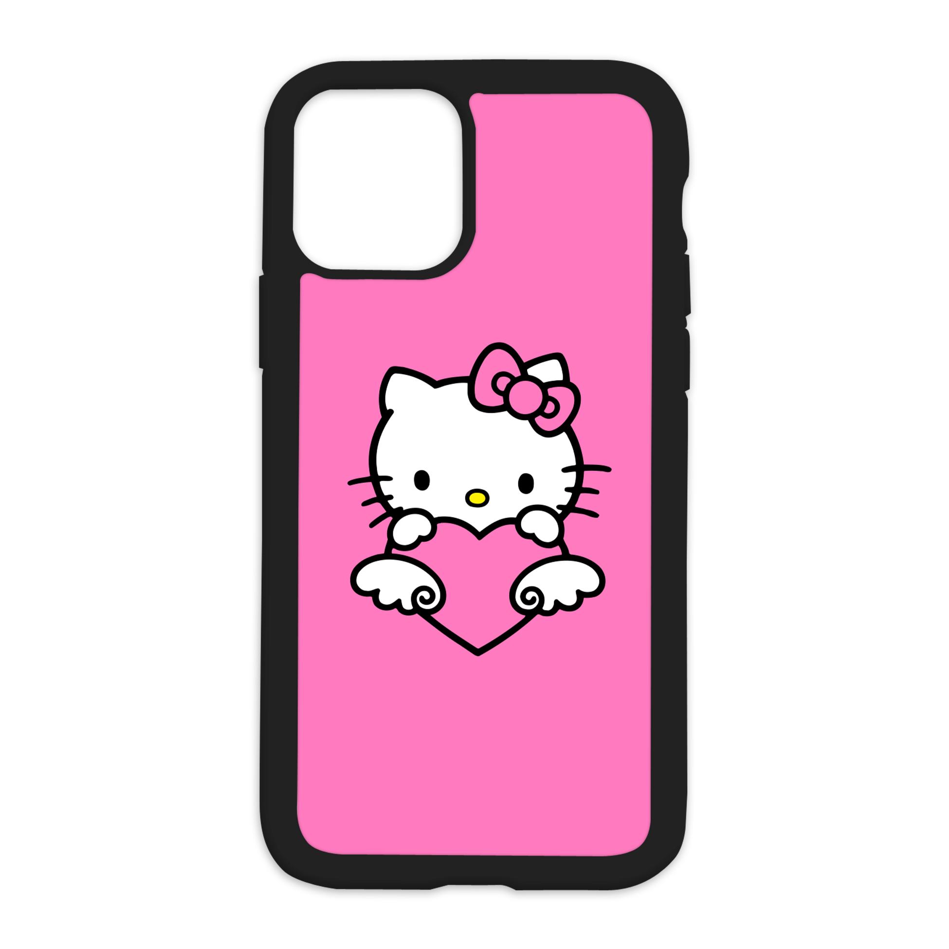 HK Design On Black Phone Case - 11 PRO / Pink