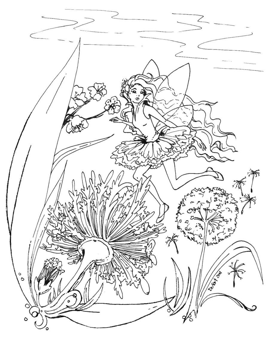 Caught By A Human Eye Angel Coloring Pages Fairy Coloring Dandelion Color