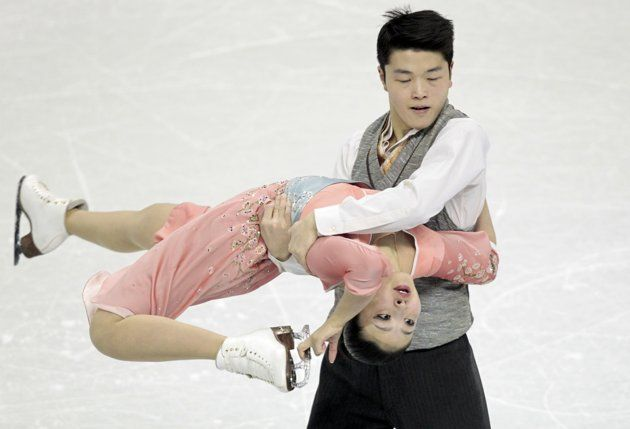Maia Shibutani and Alex Shibutani of the U.S. perform their ice dance free dance at the ISU World Figure Skating Championships in London, Ontario