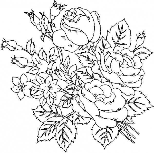 Rose Flower Coloring Pages For Beautiful Rose Coloring Pa ...