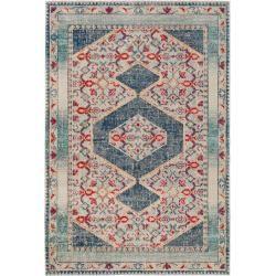 Photo of benuta Flachgewebeteppich Stella Beige/Blau 120×170 cm – Vintage Teppich im Used-Look benuta