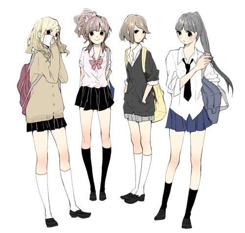 Photo of Japanische Anime zeichnen süße Koukousei Girls-Japanese anim…