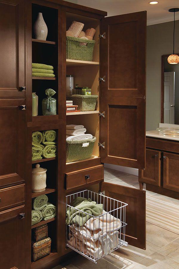 custom bathroom storage tower with hamper   built-ins   Pinterest   Bathroom  storage, Hamper and Storage
