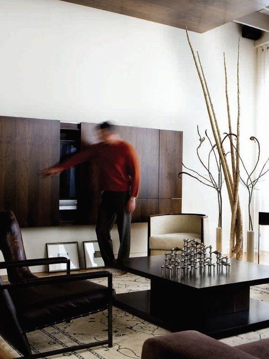 Tv Kast Donkerbruin.Tv Kast Met Schuifdeuren In Donkerbruin Hout In Moderne Design