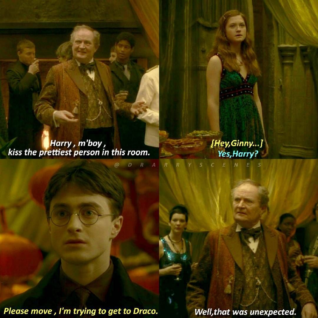 But Why Would Slughorn Tell Harry To Kiss The Prettiest Person In The First Place Harry Potter Memes Hilarious Harry Potter Jokes Harry Potter Puns