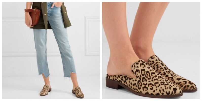 999529392 Crystal-embellished Leopard-print Calf Hair Slippers  Sam Edelman Welcome  the bold neutral