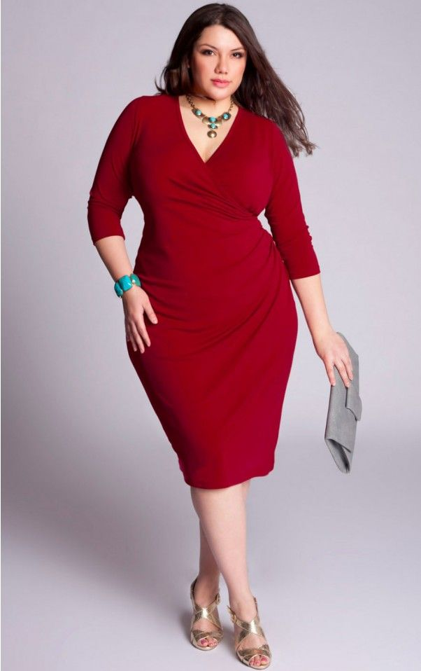 piniful plus size red dresses (06) #plussizefashion | plus