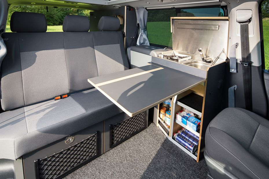 classic der spacecamper vw t5 camping ausbau. Black Bedroom Furniture Sets. Home Design Ideas