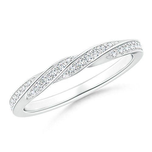 Angara Milgrain-Edged Pave Set Diamond Half Eternity Mens Wedding Band muck0yRy5