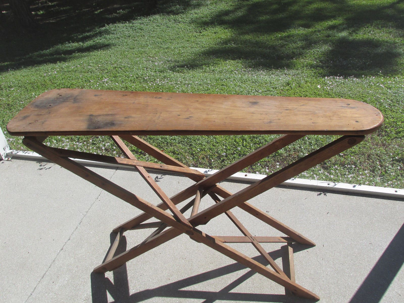 Antique Wooden Ironing Board Primitive Hand Made Farmhouse Display