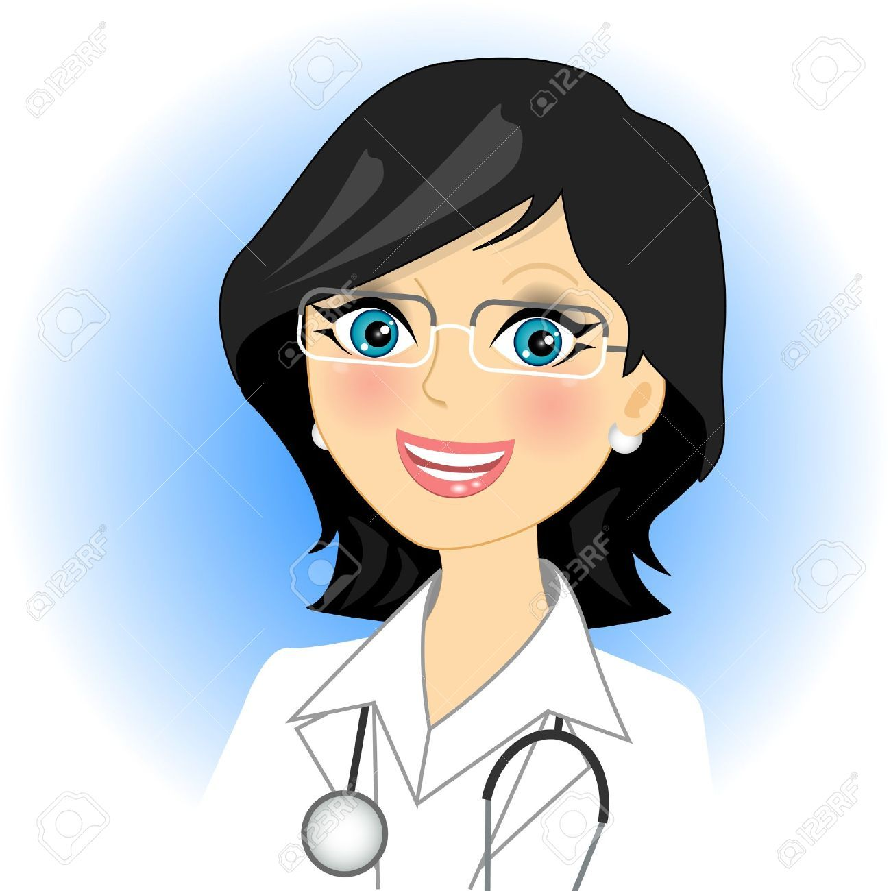 Doctor And Patient Cliparts Stock Vector And Royalty Free Doctor And Patient Illustrations Cartoon Girl Images Doctor Drawing Illustration