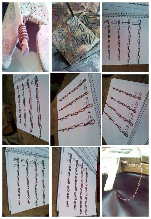 Chain, chain link, copper