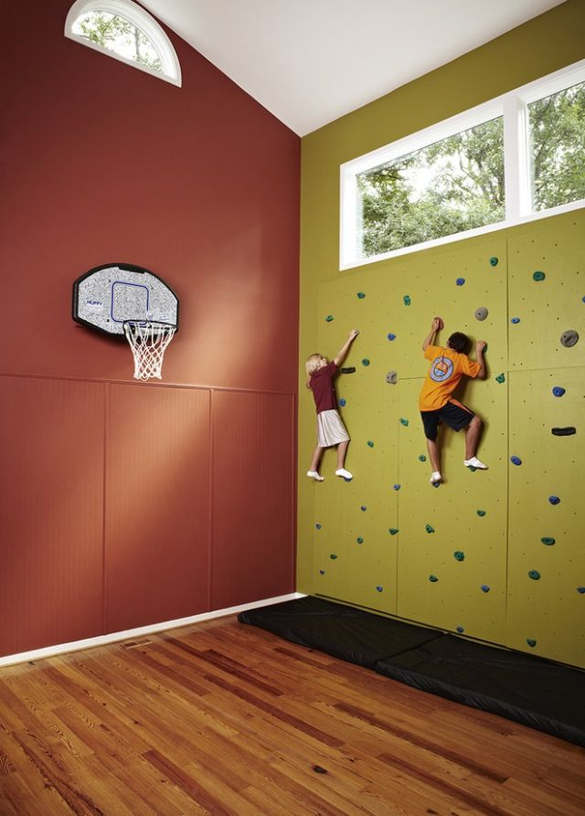 incredible home gyms home ideas at home gym climbing wall kids rh pinterest com