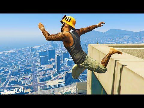 Gta 5 Funny Crazy Jump Compilation Gta V Fails Funny Moments In