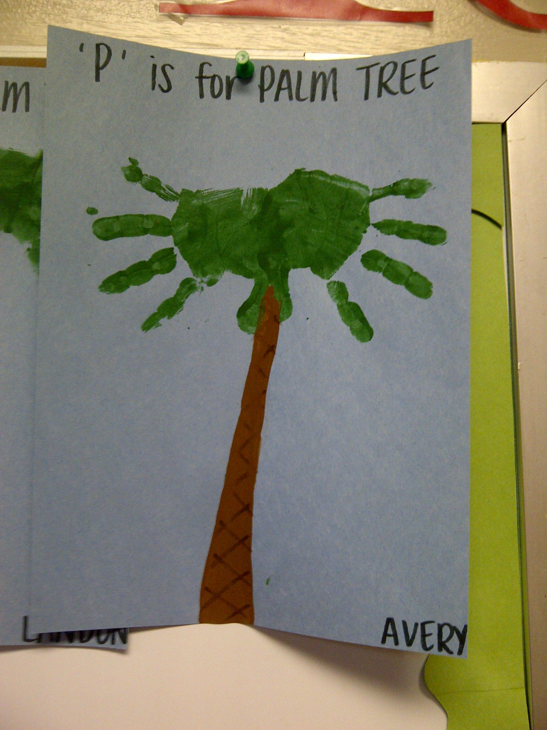 Handprint Palm Tree