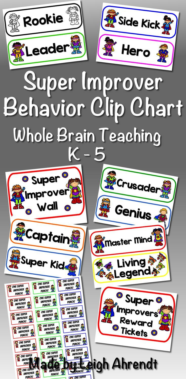 Super improver behavior clip chart whole brain teaching charts management system and also rh pinterest