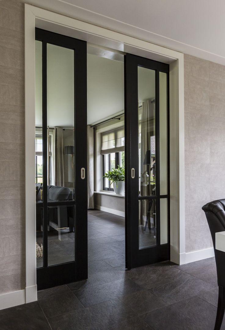 Landhuis tussendeuren zwart | Woonkamer | Pinterest - Zwart, Deuren ...
