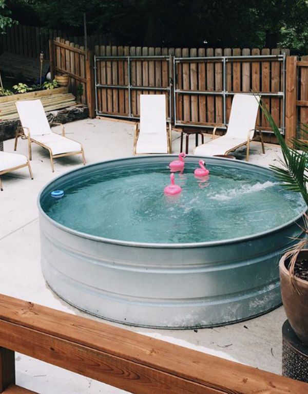 35 Cool DIY Stock Tank Pool Ideas For Summer Project #poolimgartenideen