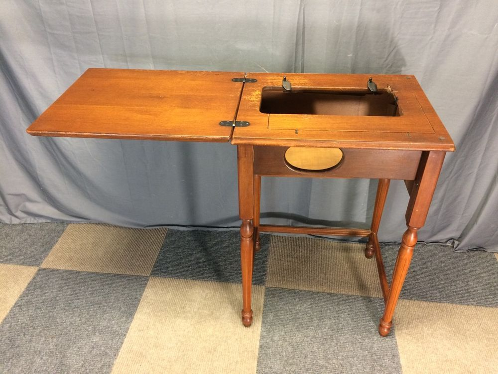 AS-IS EMPTY PFAFF 130 SEWING MACHINE CABINET TABLE FITS SINGER 15 ...
