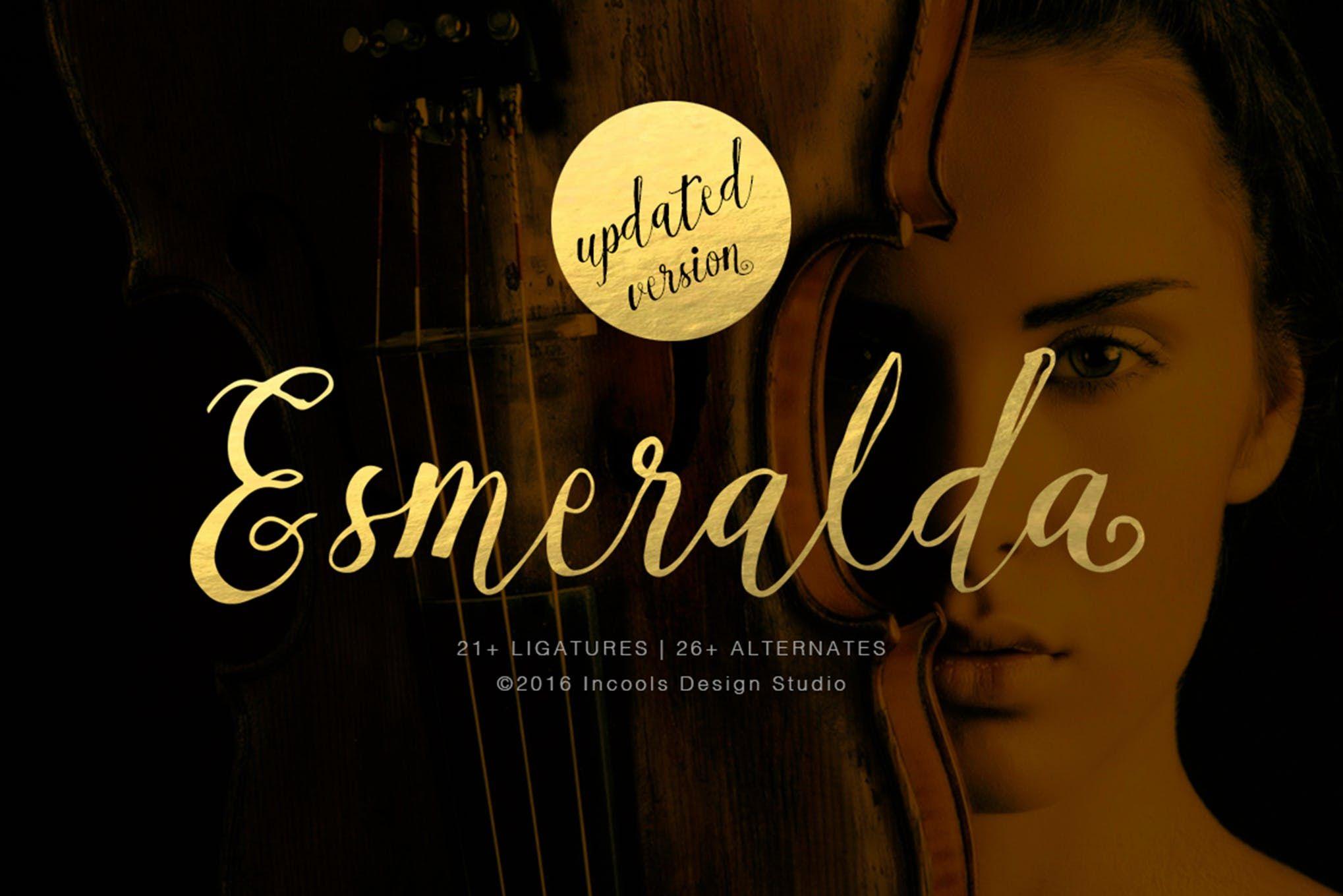 Esmeralda | Fonts, Lettering, and Typefaces | Script fonts, Fonts
