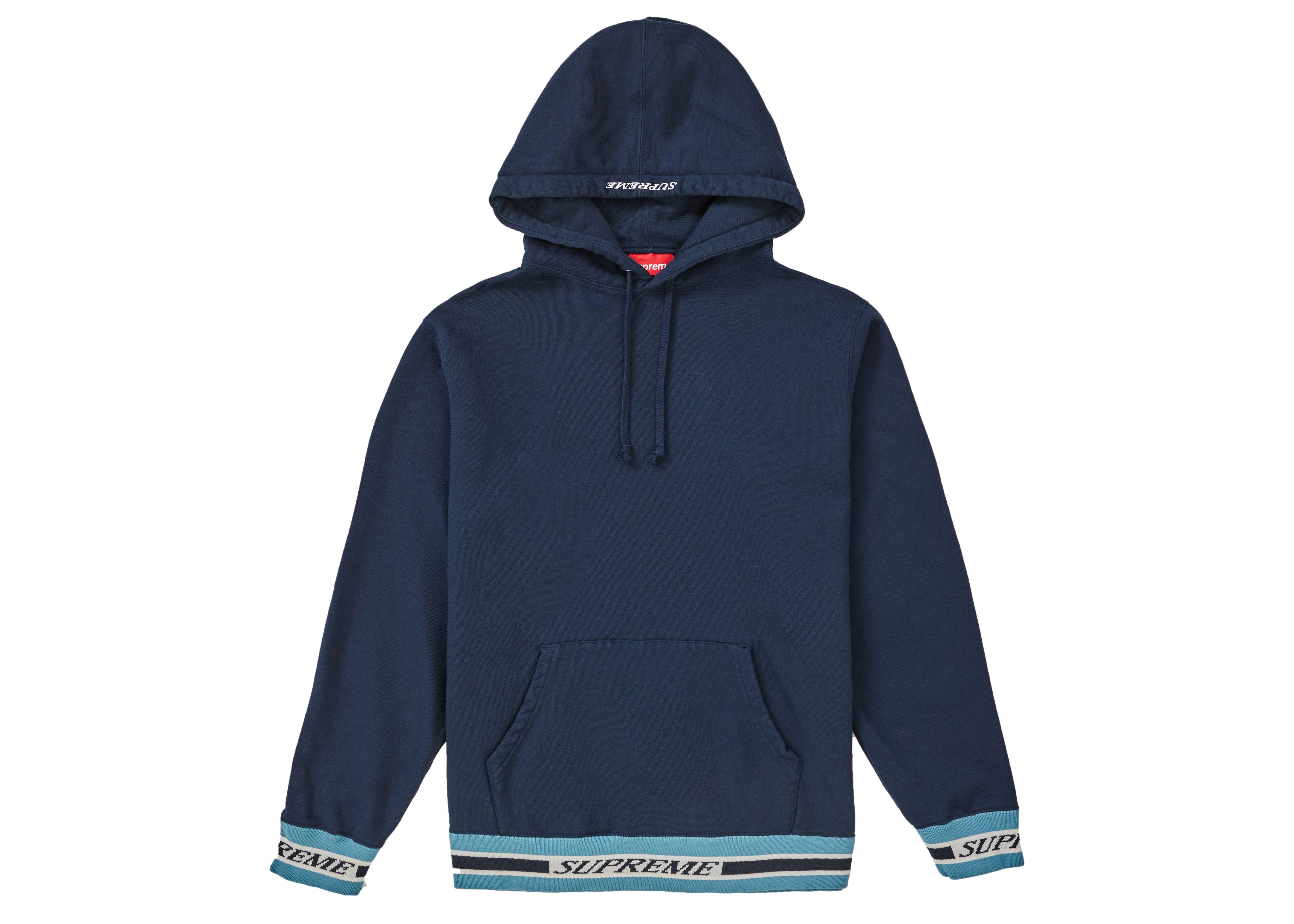 Supreme Striped Rib Hooded Sweatshirt Navy Supreme Cloth Hooded Sweatshirts Sweatshirts Striped [ 3924 x 5494 Pixel ]