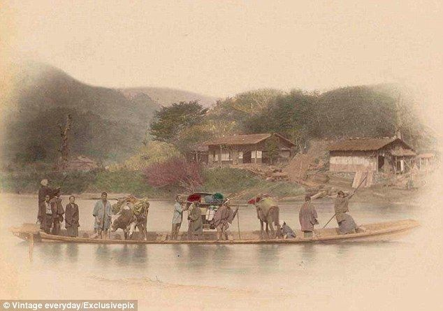 From Rickshaws Pulled By Humans To A 155mph Bullet Train In Just 100 Years Amazing Transformation Of Transport In Japan Japan Dog Soldiers Cool Photos