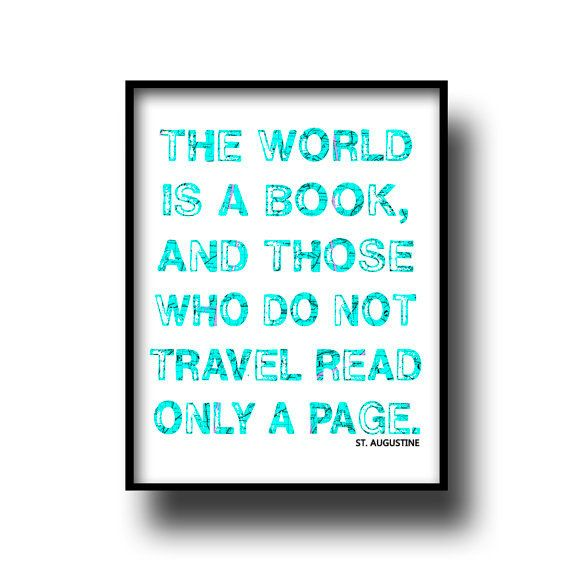art print poster typography quote decor motivational turquoise blue map vintage atlas 8x10 distressed