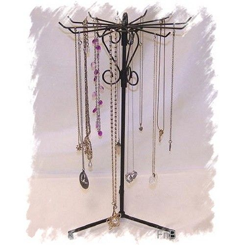 Necklace Stand Black Revolving Wire Jewelry Display Holder Jewelry Awesome Revolving Jewelry Display Stand