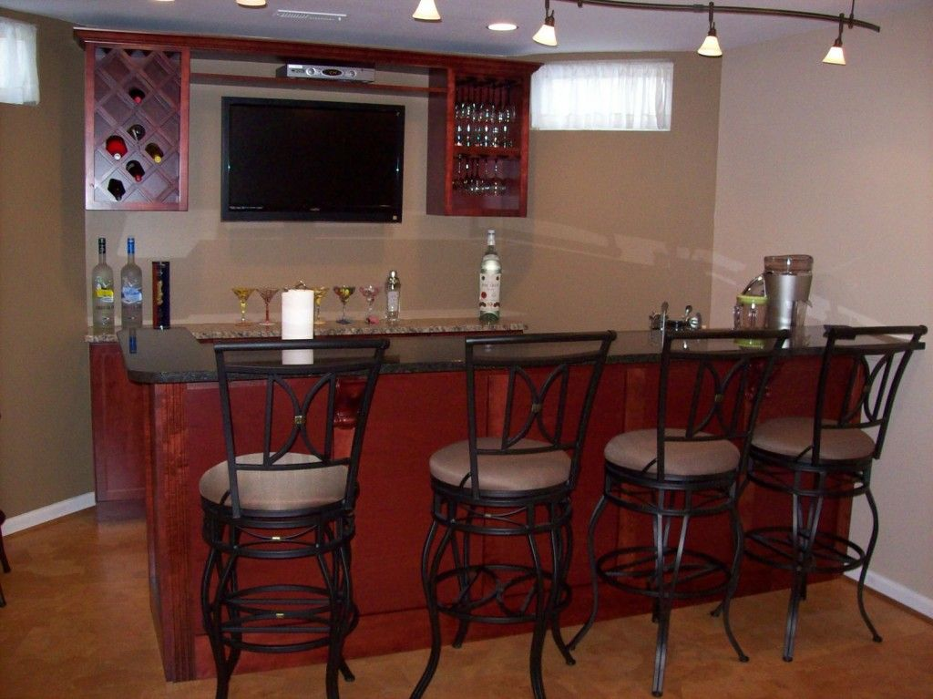 Simple Bars For Basements Ideas With Granite Countertop Basement