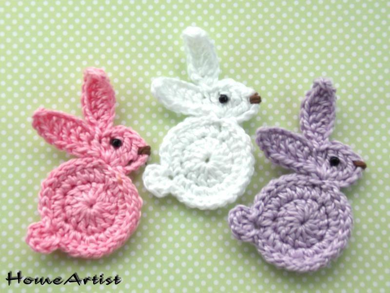 Único Crochet Patrón De Aplicación De Conejo Festooning - Manta de ...