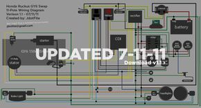 Wiring diagram for a GY6 swap with Honda Ruckus | Honda ruckus, Honda, Honda  metropolitanPinterest